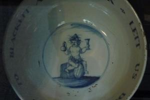 18th century ceramic toasting bowl